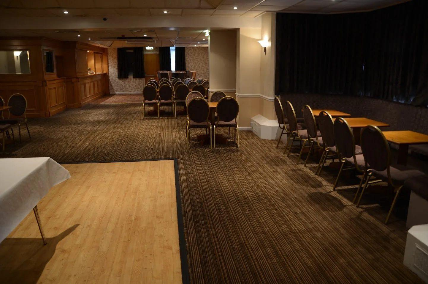 Low lighting in Standard Triumph Club function room